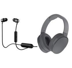 Skullcandy Hesh 3 Wireless Over Ear Wireless Bluetooth Headphone Bundle With Skullcandy Jib Bluetooth Wireless In Ear Earbuds Gr