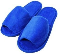 Open Kid's Toe Slippers Cotton Terry Velour Slippers Cloth Spa Hotel Girls And Boys Slippers Royal
