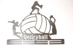 Trendyshop Volleyball Large Medal Hanger - Stainless Steel