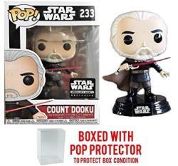 USAB Funko Pop Star Wars Smuggler's Bounty Exclusive Count Dooku 233 Vinyl Figure Bundled With Pop Box Protector Case