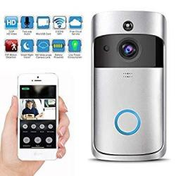 KuDiff Wireless Video Doorbell With LED Ring Button HD Wifi Camera With Real-time Video Two-way Talk Night Vision Pir Motion Det