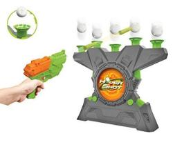 Merchant Ambassador Hover Shot 2.0 Game - Air Powered Blaster Foam Darts With Glow In The Dark Targets