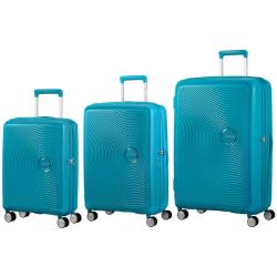 AMERICAN TOURISTER Soundbox Set Of 3 Spinners Summer Blue