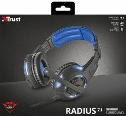 Trust: Gxt 350 Radius 7.1 Illuminated Gaming Headset PC