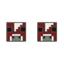 Jinx Minecraft Video Game Mooshroom Enamel Stud Earrings
