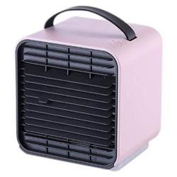 Chicoco Cooling Fanportable MINI USB Charge Cooling Fan Air Conditioner Purifier Cooler Humidifier - Pink