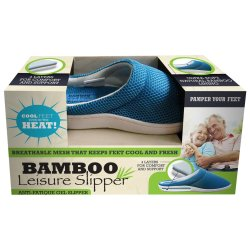 African Shopping Network S Bamboo Leisure Slipper Unisex Blue