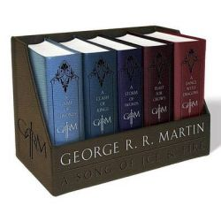 GAME OF THRONES A Leather-cloth Boxed Set - A A Clash Of Kings A Storm Of Swords