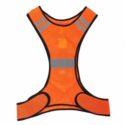 Vgeby Reflective Running Vest High Visibility Reflective Safety Vest With Adjustable Waist For Cycling Jogging Walking Outdoor Sports Motorcycle
