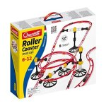 Quercetti Roller Coaster MINI Rail Set -150PC 8 Meters Kids Ages 6-12 Building Blocks For Marbles Game Maze Tracks