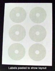MINI Cd 180MM Glossy Label Refill Kit - 60 Labels