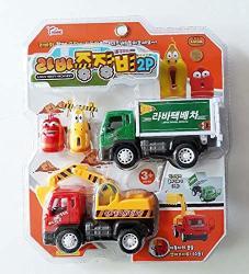 Ocie Comic Animation Larva 2 Larva Figures & 2 Toy Cars Set Imported From Korea
