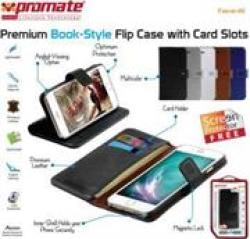 Promate 6959144013992 TAVA-I6 Premium Book-style Flip Case With Card Slot For Iphone 6 - Black