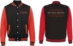 Star Wars - Episode Vii Logo Varsity Jacket Medium