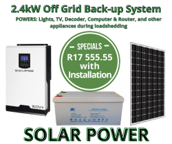 Power Kit - 2.4KW Off Grid System With Storage - Installation Included