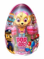 Paw Patrol Character Pop Ups Lollipop Holder Easter Egg With Chupa Chups Lollipops 0.70 Oz Skye