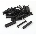 Willwin 10pcs D-SUB DB15 15 Pin Female IDC Type Crimp Connector for Flat Cable