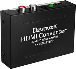 HDMI Audio Extractor Converter Ozvavzk 4K HDMI To HDMI + Spdif Optical toslink + Rca L r Stereo Analog Outputs Video Audio Conve