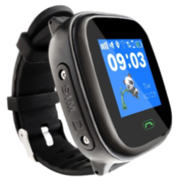 Polaroid Active Kids Gps Tracking Waterproof Watch - With Touchscreen - Black