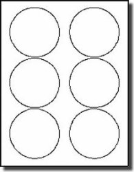 """600 Label Outfitters White Glossy 3-1 3"""" Round Laser Printer Labels 100 Sheets"""