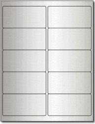 "Desktop Publishing Supplies, Inc. 4"" X 2"" Inkjet Silver Foil Labels - 10 Sheets 100 Labels"