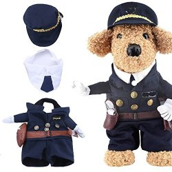 Yarssir Pet Policeman Costumes Cop Clothes Cosplay Dog And Cat Halloween Suits Police-xl