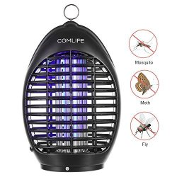 COMLIFE Electric Bug Zapper Lamp - 360UV Mosquito Killer Fly Insects Zapper Catcher Chemical-free Zapper For Home Office Patio K