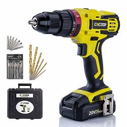 CORDLESS Cacoop Hammer Drill Driver Set 20V Compact Drill With Lithium-ion Battery And Charger 1 2 Inch All-metal Chuck 2 Variab