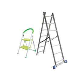 3 IN 1 Aluminium Combination Ladder 2 X 9STEP