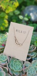 Mila Wooden Abstract A Necklace - Nationwide Shipping Included