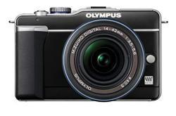 Olympus Pen E-PL1 12.3MP Live Mos Micro Four Thirds Mirrorless Digital Camera With 14-42MM F 3.5-5.6 Zuiko Digital Zoom Lens Black