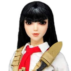 """Hiplay 1 6 Scale Female Figure Head Sculpt Eye Movable Type Asian Beuty Charming Girl Doll Head For 12"""" Action Figure Phicen Tbleague Obitsu HP053"""
