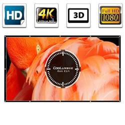 100 Inch Projector Screen Indoor Outdoor Portable Projection Movies Screen HD 4K 16:9 Home Theater Outside Office Backyard Presentation Education Publ