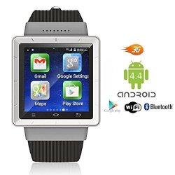 InDigi New Stylish Wrist Watch 3G Smartphone Android 4.4 Touch Screen Wifi Gps Unlocked Smart Watche
