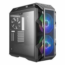 Cooler Master Mastercase H500M Atx Desktop Chassis Iron Grey Tempered Glass Window w 2X 200MM Argb Fans Argb Controller Incl MC