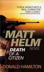 Matt Helm - Death Of A Citizen Paperback