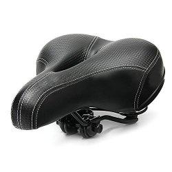 J6MALL Bicycle Cycling Big Bum Saddle Seat Road Mtb Bike Wide Soft Pad Comfort Cushion