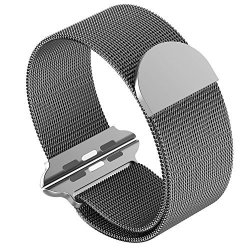 SIRUIBO Band For Apple Watch 42MM Stainless Steel Mesh Milanese Loop With Magnetic Closure Clasp Replacement Wristband Bracelet
