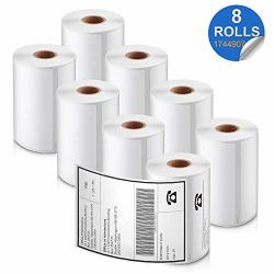 """Labelife Compatible 4""""X 6"""" Label Replacement For Dymo 1744907 Shipping Labels Use For Dymo Labelwriter 4XL Printers 1755120 Rollo Printers 220 Labels roll 8 Rolls"""