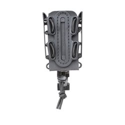 SOFT Black Shell Scorpion -short- Pistol Mag Carrier With P1 Molle stacking Clip 100% Made In The Usa