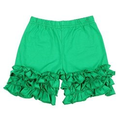 Slowera Baby Girls Cotton Ruffles Shorts Pants Green Xxxs: 3-6 Months