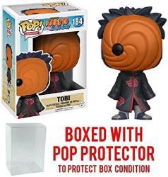Funko Pop Anime: Naruto Shippuden - Tobi 184 Vinyl Figure Bundled With Pop Box Protector Case