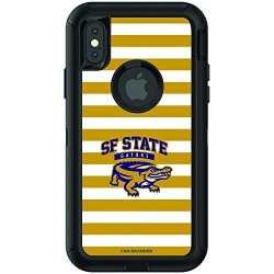 Fan Brander Ncaa Black Phone Case With Stripes Design Compatible With Apple Iphone Xr And With Otterbox Defender Series San Francisco State U Gators