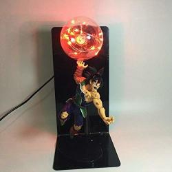 "Azamon Us Shop New Unique Biright Adorable Dragon Ball Z Gokou Son Goku's Father Bardock Statue Figure 14"" Diy Lamp Accent Long Lasting"