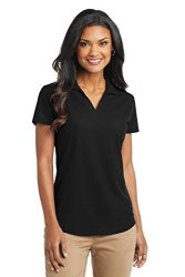 Port Authority Women's Dry Zone Grid Polo L Black