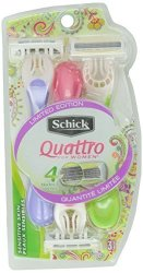 Schick Quattro Disposable Razors For Women 3 Razors