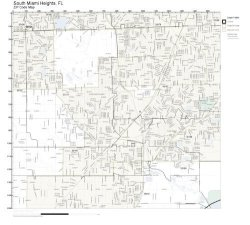 Zip Code Wall Map Of South Miami Heights Fl Zip Code Map Not Laminated