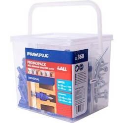 RawlPlug 4ALL Assorted Plugs M5 M6 M8 & Screws Tub 180PCS