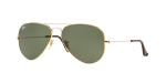 Ray-Ban Aviator Large Metal RB3025 181 58 Sunglasses - Gold With Green Lens