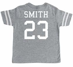 Custom Cotton Football Sport Jersey Toddler & Child Personalized With Name And Number 10 12 Medium Vintage Heather